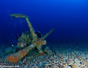Wreckage of Curtiss SB2C Helldiver